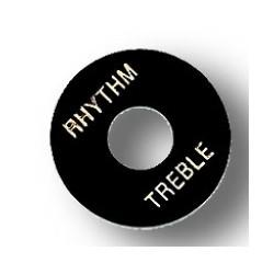 Disc Rhythm/Treble Gibson Style Black