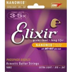 Elixir Phosphor Bronze Custom Extra-Light Acustica 10-47