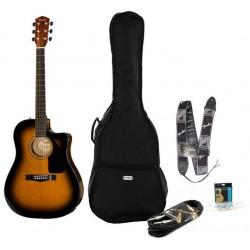 Fender cd-60 ce kit cavo tracolla e gigbag disponibile in 7gg