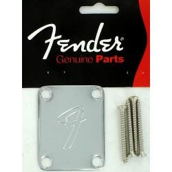 Fender ORIGINALE  Neckplate placca manico strat tele F 0991448100