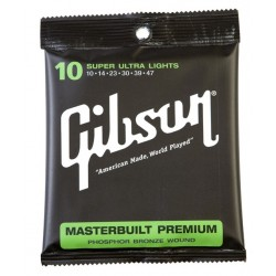 Gibson Corde Masterbuilt 10-47 super ultra light Chitarra Acustica