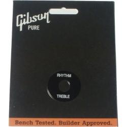 Gibson disc Rhythm/Treble Black Con scritta Bianca PRWA-020
