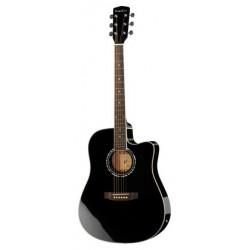 Harley Benton D-120CE bk chitarra acustica  NERA