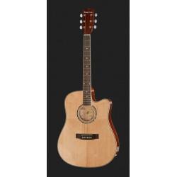 Harley Benton D-120CE NT chitarra acustica  NATURAL disponibile in 7gg