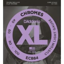 D'addario ECB84 40-100 Chromes Light