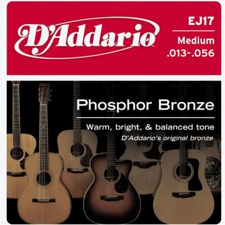 D'addario EJ17 Phosphor Bronze 13-56 Medium