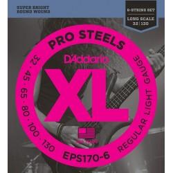 D'Addario EPS 170-6 prosteels muta per basso 6 corde