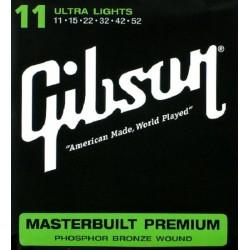 Gibson Corde Masterbuilt 11-52 ultra light Chitarra Acustica phosphor bronze