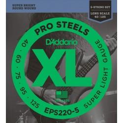 D'ADDARIO EPS 220-5 PRO STEEL 40-125 BASSO 5 CORDE