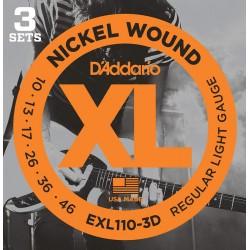 D'addario EXL110-3D 10-46 Regular Light Set.3