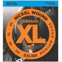 D'addario EXL160  50-105 Long Scale